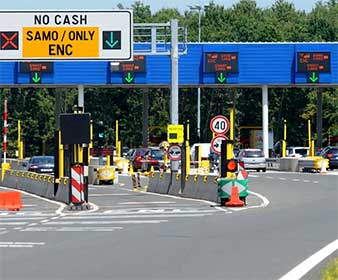 Arrival by car in Okrug - Toll charges
