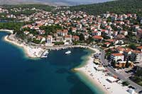 Riviera Okrug-Trogir - Milićevo bay beach - sea bathing water quality