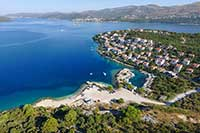 Riviera Okrug-Trogir Kava west side beach - sea bathing water quality